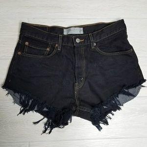 •LEVI'S• Distressed Denim Cut Off Shorts.